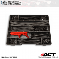 ACT AL-ACTKIT-801-0 UV Black Cable Tie Mounting 801pc/Kit with Tension Tool 5 kit/Case