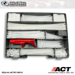 ACT AL-ACTKIT-801-9 Natural Cable Tie Mounting 801pc/Kit with Tension Tool 5 kit/Case