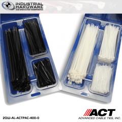 """ACT AL-ACTPAC-400-0 UV Black Cable Tie Kit 4""""-7""""-11"""""""