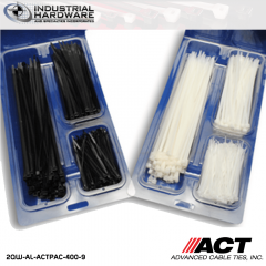 "ACT AL-ACTPAC-400-9 Natural Cable Tie Kit 4""-7""-11"""
