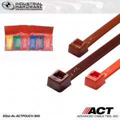 ACT AL-ACTPOUCH-300 4 in. 300pc Color Cable Tie Variety Pouch 10 kit/Case
