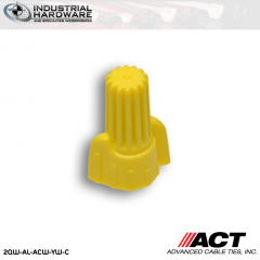 ACT AL-ACW-YW-C Yellow Wing Wire Connector 1000 Pcs/Case