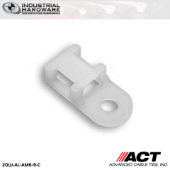 ACT AL-AM6-9-C Nylon Anchor Mount Natural #6 Screw 1000 Pcs/Case