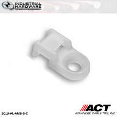 ACT AL-AM8-9-C Nylon Anchor Mount Natural #8 Screw 1000 Pcs/Case