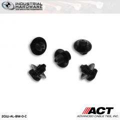 ACT AL-BM-0-C Nylon Push Mounts Button Mount Black 1000 Pcs/Case