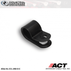 ACT AL-CCL-250-0-C 1/4 in. Light Duty Black Cable Clamps 5000 pcs