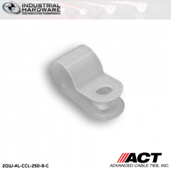 ACT AL-CCL-250-9-C 1/4 in. Light Duty Natural Cable Clamps 5000 pcs