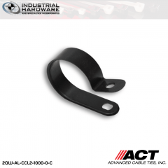 ACT AL-CCL2-1000-0-C 1 in. Heavy Duty Black Cable Clamps 2000 pcs