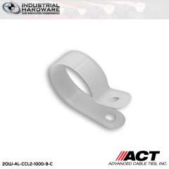 ACT AL-CCL2-1000-9-C 1 in. Heavy Duty Natural Cable Clamps 2000 pcs