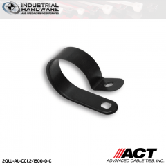 ACT AL-CCL2-1500-0-C 1-1/2 in. Heavy Duty Black Cable Clamps 1000 pcs