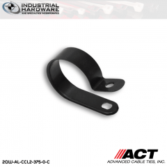 ACT AL-CCL2-375-0-C 3/8 in. Heavy Duty Black Cable Clamps 2500 pcs