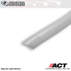 ACT AL-CWP-125-9-C 1/8 in. Polyethylene Natural Cable Wrap 100 ft