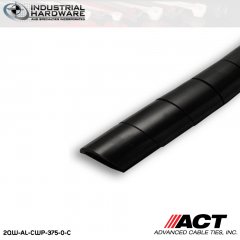 ACT AL-CWP-375-0-C 3/8 in. Polyethylene UV Black Cable Wrap 100 ft
