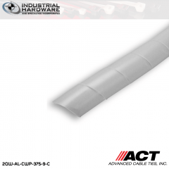 ACT AL-CWP-375-9-C 3/8 in. Polyethylene Natural Cable Wrap 100 ft