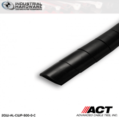 ACT AL-CWP-500-0-C 1/2 in. Polyethylene UV Black Cable Wrap 100 ft
