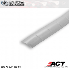 ACT AL-CWP-625-9-C 5/8 in. Polyethylene Natural Cable Wrap 100 ft