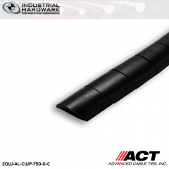 ACT AL-CWP-750-0-C 3/4 in. Polyethylene UV Black Cable Wrap 100 ft