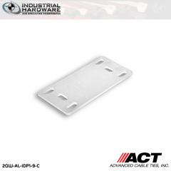 ACT AL-IDP1-9-C 1 1/2 in. x 3/4 in. Nylon Identification Plate Natural 1000 Pcs/Case