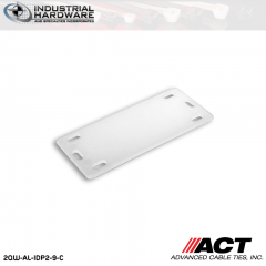 ACT AL-IDP2-9-C 2 3/8 in. x 1 in. Nylon Identification Plate Natural 1000 Pcs/Case