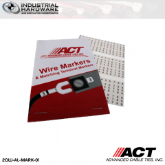 ACT  AL-MARK-01 Wire Marker Label Book Numbers 0-9
