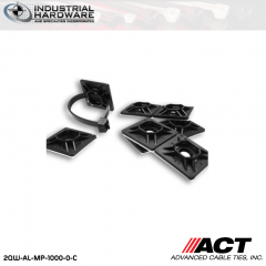 ACT AL-MP-1000-0-C 1 in. Nylon Mounting Pad Rubber Base UV Black 1000 Pcs/Case