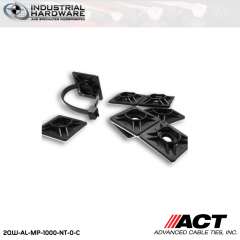 ACT AL-MP-1000-NT-0-C 1 in. Nylon Mounting Pad No Tape UV Black 1000 Pcs/Case