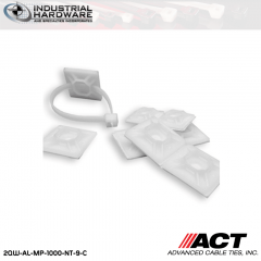 ACT AL-MP-1000-NT-9-C 1 in. Nylon Mounting Pad No Tape Natural 1000 Pcs/Case