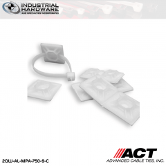 ACT AL-MP-750-9-C 3/4 in. Nylon Mounting Pad Rubber Base Natural 1000 Pcs/Case