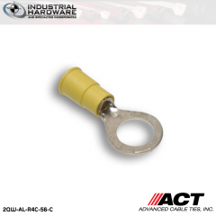 ACT AL-R4C-56-C Yellow Vinyl Ring Terminal 12-10 AWG 1000 pc/Case