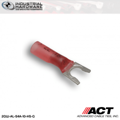 ACT AL-S4A-10-HS-Q Red Heat Shrink Spade Terminal 22-18 AWG 250 pc/Case
