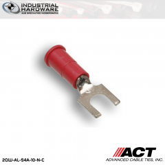 ACT AL-S4A-10-N-C Red Double Crimp Nylon Spade Terminal 22-18 AWG 1000 pc/Case