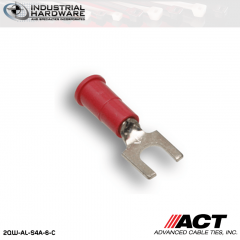ACT AL-S4A-6-C Red Vinyl Spade Terminal 22-18 AWG 1000 pc/Case