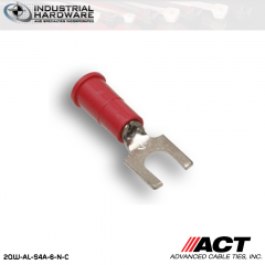 ACT AL-S4A-6-N-C Red Double Crimp Nylon Spade Terminal 22-18 AWG 1000 pc/Case