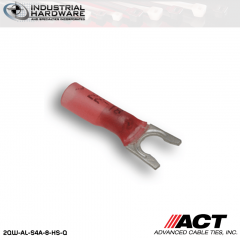 ACT AL-S4A-8-HS-Q Red Heat Shrink Spade Terminal 22-18 AWG 250 pc/Case