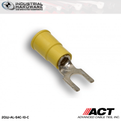 ACT AL-S4C-10-C Yellow Vinyl Spade Terminal 12-10 AWG 1000 pc/Case