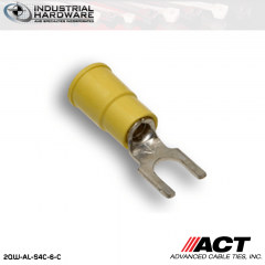 ACT AL-S4C-6-C Yellow Vinyl Spade Terminal 12-10 AWG 1000 pc/Case