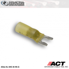 ACT AL-S4C-8-HS-Q Yellow Heat Shrink Spade Terminal 12-10 AWG 250 pc/Case