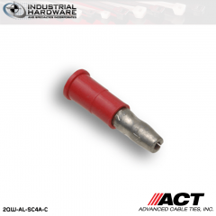 ACT AL-SC4A-C Red Vinyl Female Snap Plug 22-18 AWG 1000 pc/Case