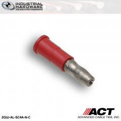 ACT AL-SC4A-N-C Red Double Crimp Nylon Male Snap Plug 22-18 AWG 1000 pc/Case