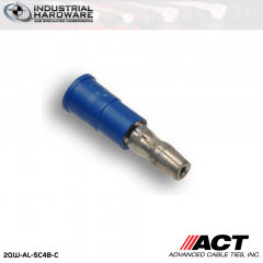 ACT AL-SC4B-C Blue Vinyl Female Snap Plug 16-14 AWG 1000 pc/Case