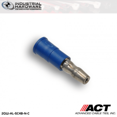 ACT AL-SC4B-N-C Blue Double Crimp Nylon Male Snap Plug 16-14 AWG 1000 pc/Case