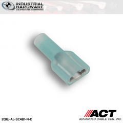 ACT AL-SC4B1-N-C Blue Double Crimp Nylon Male Snap Plug 16-14 AWG 1000 pc/Case