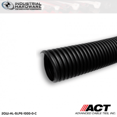 ACT AL-SLPE-1000-0-C 1 in. Polyethylene Split Loom 100 ft. Roll