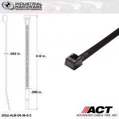 ACT ALB-04-18-0-C ALB-Line Retail Packs 4 in. Nylon UV Black Cable Tie (1000 Pcs/Case)