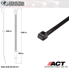 ACT ALB-05-40-0-C ALB-Line Retail Packs 5 in. Nylon UV Black Cable Tie (1000 Pcs/Case)