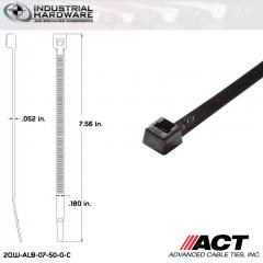ACT ALB-07-50-0-C ALB-Line Retail Packs 7 in. Nylon UV Black Cable Tie (1000 Pcs/Case)