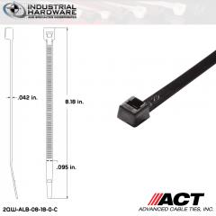 ACT ALB-08-18-0-C ALB-Line Retail Packs 8 in. Nylon UV Black Cable Tie (1000 Pcs/Case)