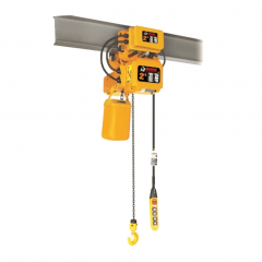 Bison HHBDSK02-01D+WPC02D: 2 Ton 3 Phase Dual Speed Electric Chain Hoist with Trolley 20 ft. Lift