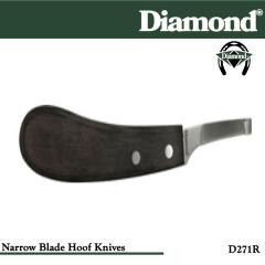 31-D271R, Diamond Catalog Number D271R, Diamond Farrier D271R Hoof Knife Narrow Right