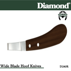 31-D280R, Diamond Catalog Number D280R, Diamond Farrier D280R Hoof Knife Wide Right